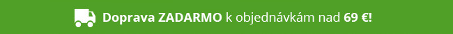 Doprava ZADARMO k objednávkam nad 69 €