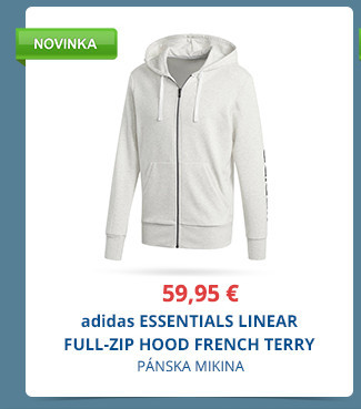 adidas ESSENTIALS LINEAR FULL-ZIP HOOD FRENCH TERRY