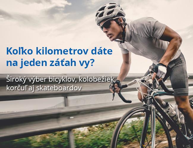 Široký výber bicyklov, kolobežiek, korčuľ aj skateboardov