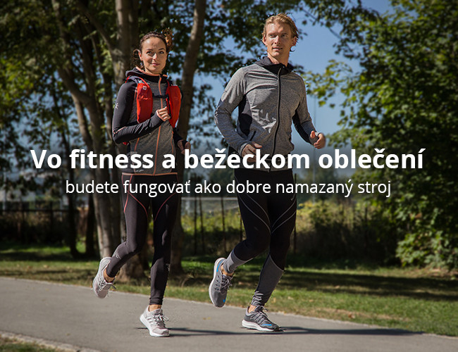 Vo fitness a bežeckom oblečení