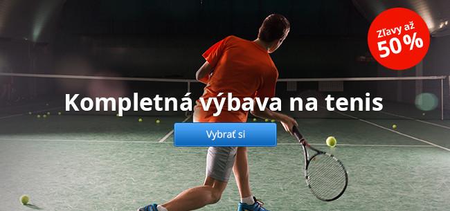 Kompletná výbava na tenis – zľavy až 50 %