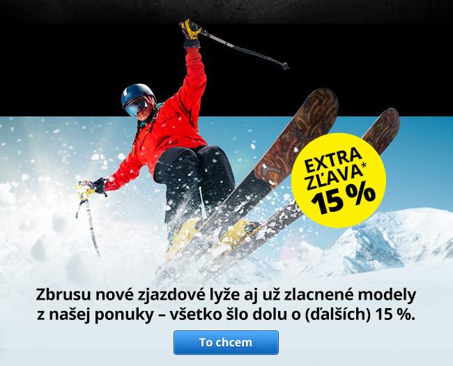 Zjazdové lyžovanie - extra zľava 15 %