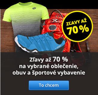 Zľavy až 70 % na vybrané oblečenie, obuv a športové vybavenie