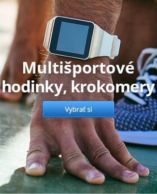 Multišportové hodinky, krokomery