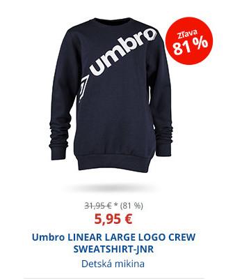 Umbro LINEAR LARGE LOGO CREW SWEATSHIRT-JNR