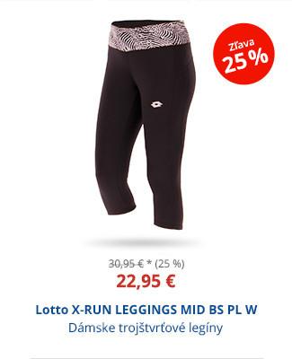 Lotto X-RUN LEGGINGS MID BS PL W