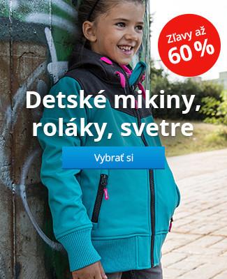 Detské mikiny, roláky, svetre zľavy až 60%