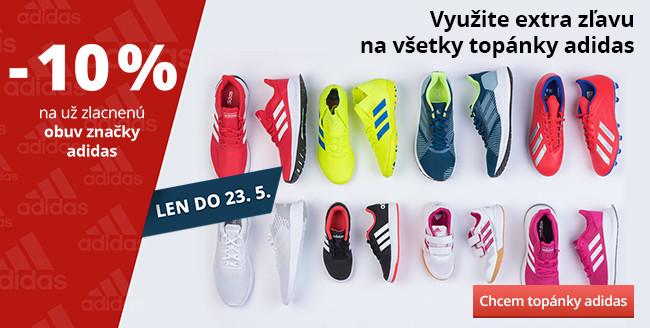 Využite extra zľavu na všetky topánky adidas
