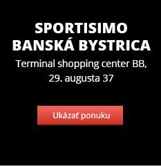 VÝPREDAJ ZÁSOB – Sportisimo Banská Bystrica – zľavy až 65 %