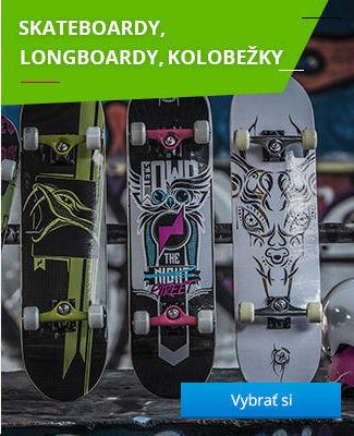 Skateboardy, longboardy, kolobežky