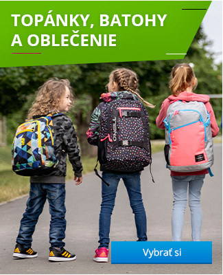 Topánky, batohy a oblečenie na cestu do školy