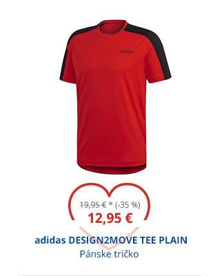 adidas DESIGN2MOVE TEE PLAIN