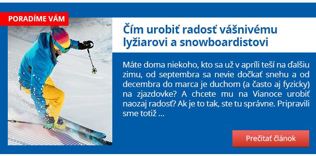 Čím urobiť radosť vášnivému lyžiarovi a snowboardistovi