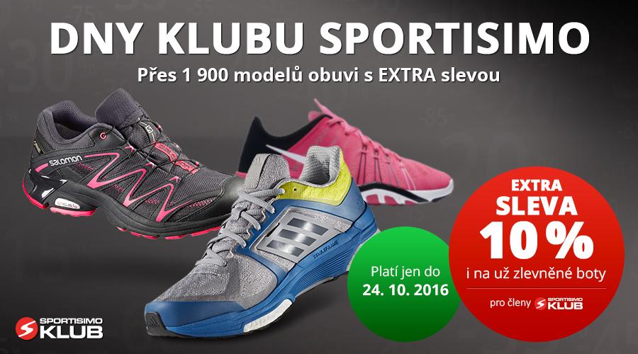 Akce Klubu SPORTSIMO: 1 900 modelů bot s 10% slevou