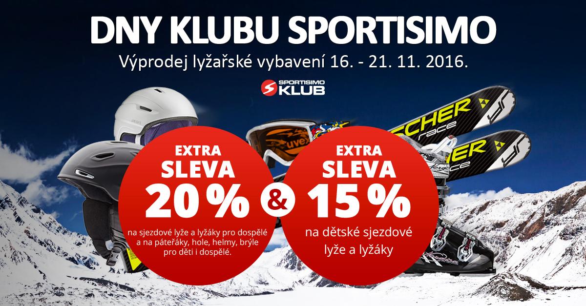 Dny Klubu SPORTISIMO: - 20 % na lyžařské vybavení