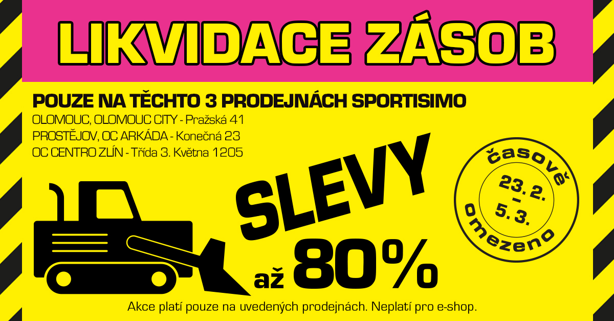 Likvidace zásob na Moravě: pomozte nám VYBÍLIT SKLADY!