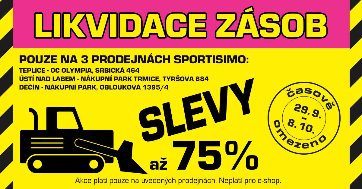 Ušetřete až 75 %: LIKVIDACE ZÁSOB 3 PRODEJEN v Teplicích, Ústí n/L a Děčíně