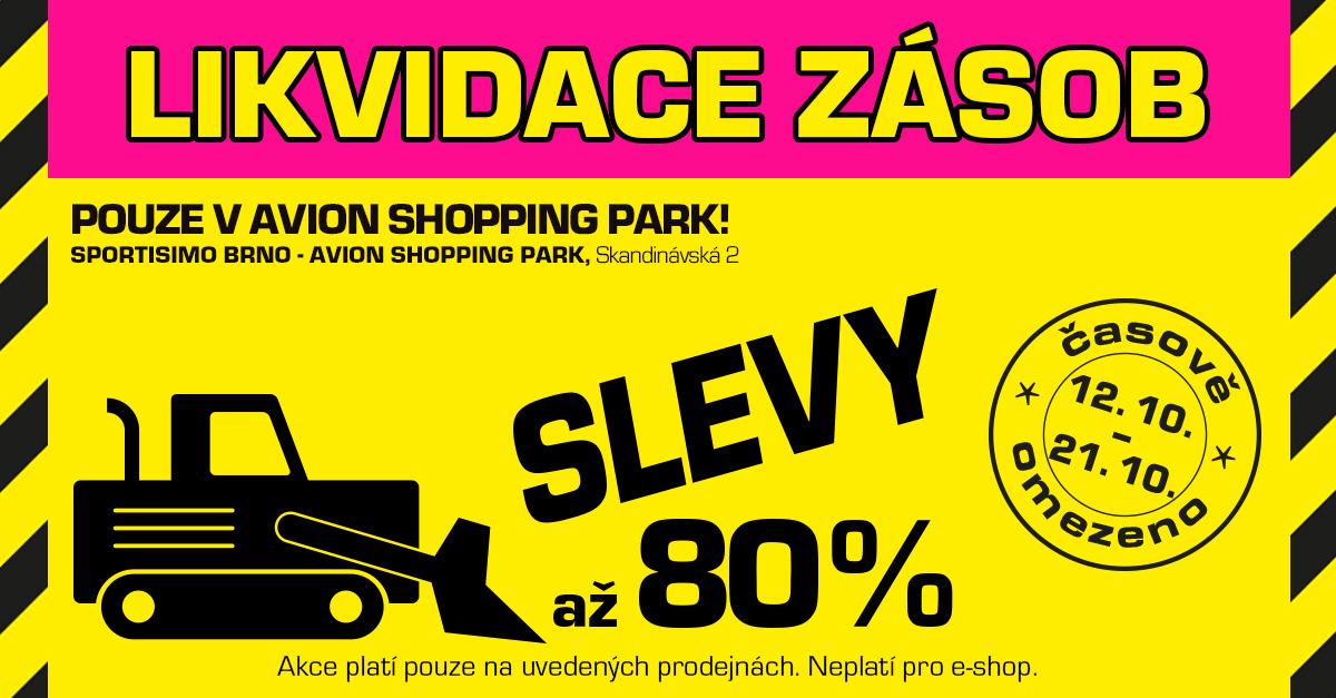 Brno hlásí LIKVIDACI ZÁSOB: nakupte až o 80 % levněji!