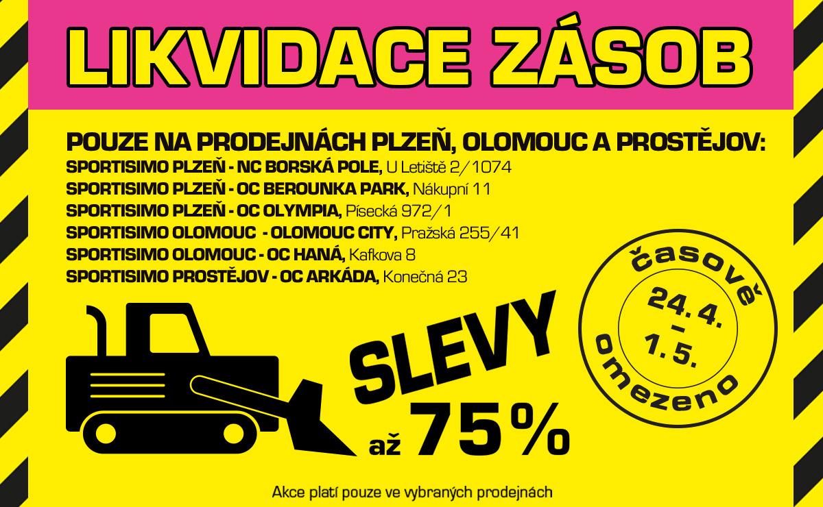 Olomouc, Prostějov a Plzeň: Likvidace zásob, NEJLEPŠÍ CENY (až – 75 %)!