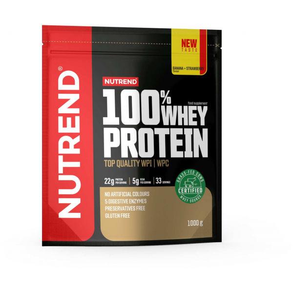 Nutrend 100% WHEY PROTEIN 1000 g BANÁN-JAHODA - Protein
