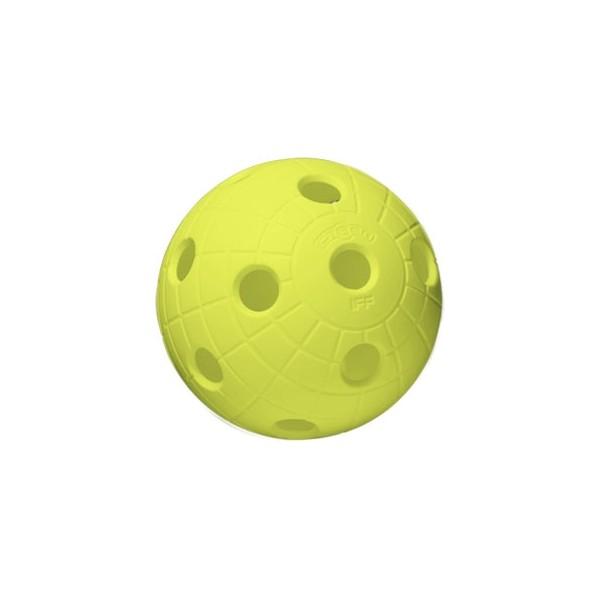 Unihoc BALL CRATER NEON YELLOW - Florbalový míček