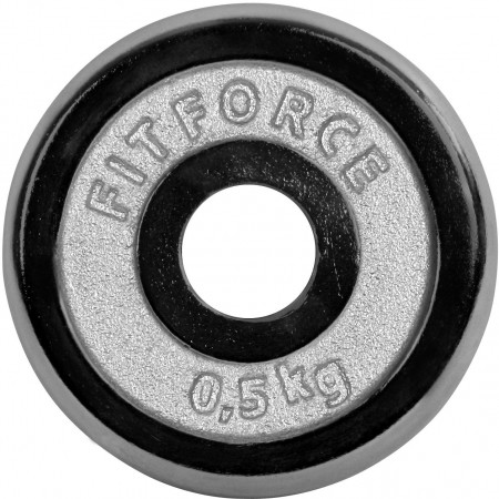 Nakládací kotouč - Fitforce NAKLÁDACÍ KOTOUČ 0,5KG CHROM
