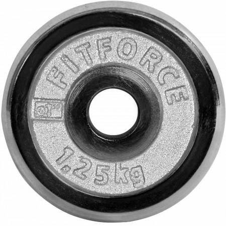 Nakládací kotouč - Fitforce NAKLÁDACÍ KOTOUČ 1,25KG CHROM