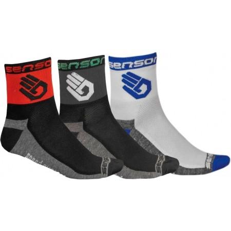 3-PACK RUKA - Cyklistické ponožky - Sensor 3-PACK RUKA