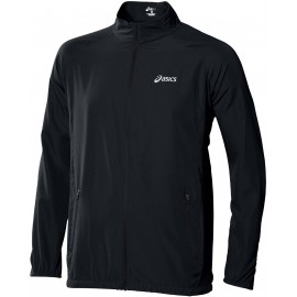 Asics WOVEN JACKET BLACK - Pánská běžecká bunda