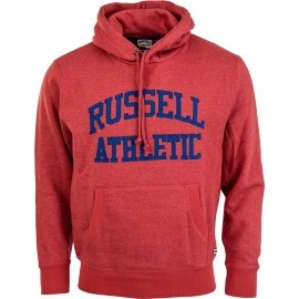 Russell Athletic PULL OVER HOODY WITH FLOCK ARCH LOGO