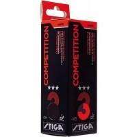 Stiga COMPETITION WHITE 3 PACK - Pingpongový míček