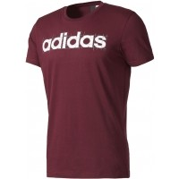 adidas LINEAR PURPLE - Pánské tričko