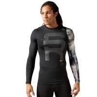 Reebok SRM LS COMP - Pánské elastické tričko