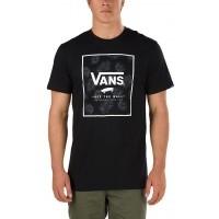 Vans PRINT BOX Black/Tonal Palm - Pánské tričko