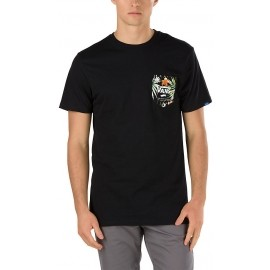 Vans PRINT BOX POCKET TEE Black Decay Palm