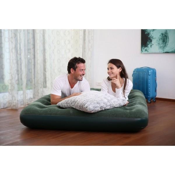 Bestway FLOCKED AIR BED GN - Nafukovací postel - dvojlůžko