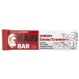 Nutrend RAW BAR 50G KAKAO+BRUSINKA
