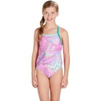 Speedo ORBIT GROOVE ALLOVER THINSTRAP CROSSBACK - Dívčí plavky