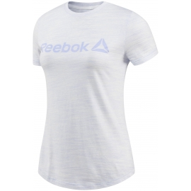 Reebok ELEMENTS LOGO MARBLE TEE - Dámské sportovní triko