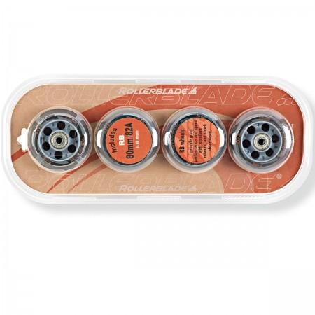 WHEELS PACK 80-82A+SG7 - Sada náhradních inline koleček - Rollerblade WHEELS PACK 80-82A+SG7