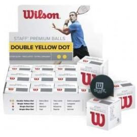 Wilson STAFF SQUASH BALL DBL/YE - Míček na squash
