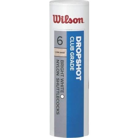 DROPSHOT 6 TUBE YELLOW - Badmintonový míč - Wilson DROPSHOT 6 TUBE YELLOW