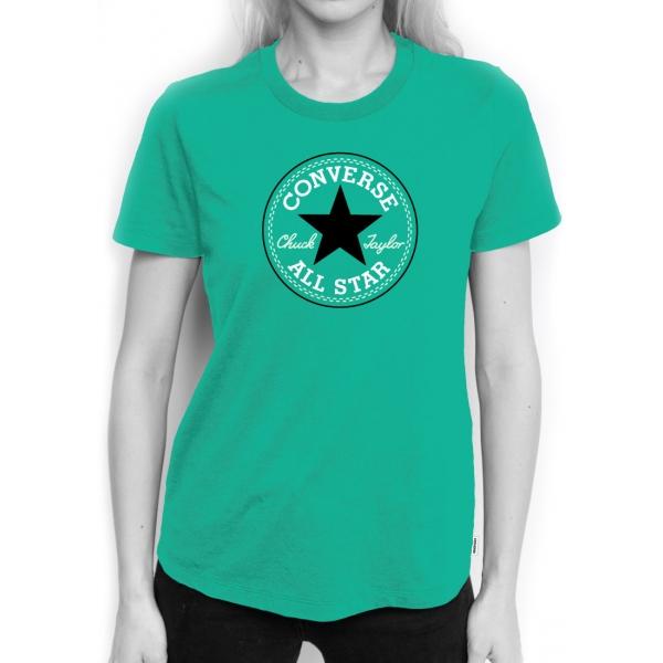 Converse CORE SOLID CHUCK PATCH CREW - Dámské tričko c3f240c85fa