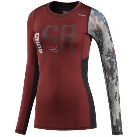 Dámské kompresní tričko - Reebok SRW LS CMPR - 1
