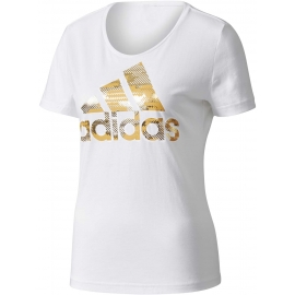 adidas ESS FOIL BOS REGULAR TEE - Dámské tričko