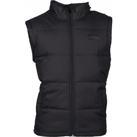 Pánská vesta - Russell Athletic SLEEVELESS PADDED JACKET WITH CONCEALED HOOD - 1