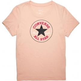 Converse CORE SOLID CHUCK PATCH CREW Dusk Pink - Dámské tričko