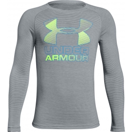 Under Armour HYBRID BIG LOGO LS TEE - Chlapecké triko