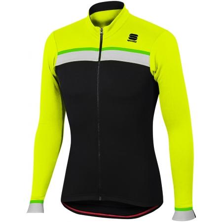 Pánský cyklistický dres s dlouhým rukávem - Sportful PISTA THERMAL JER - 1