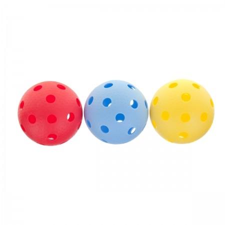 YM-003C - Sada 3 floorballových míčků - Kensis YM-003C